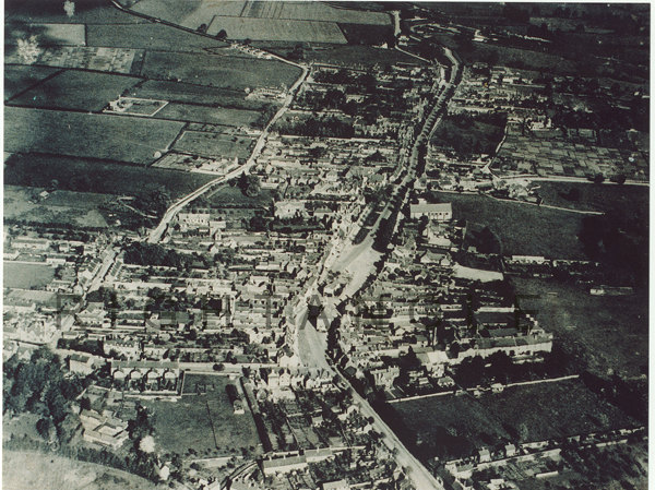 Brackley from the air 1920s