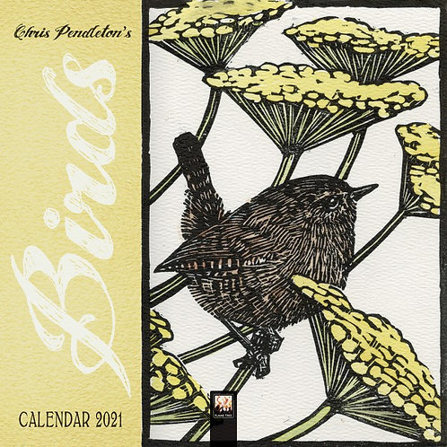 Mini Birds Linocuts Calendar