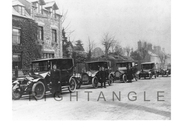 Taxis outside Winchester House School 1920s