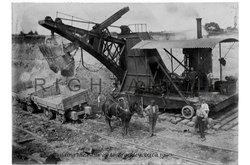 Digging the railway line circa 1899