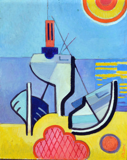 Boat and Sun 12 by Roger Phillipo