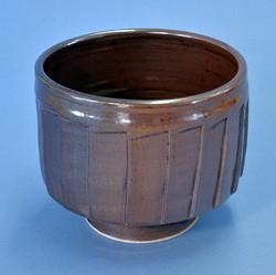 Cut-sided brown jar