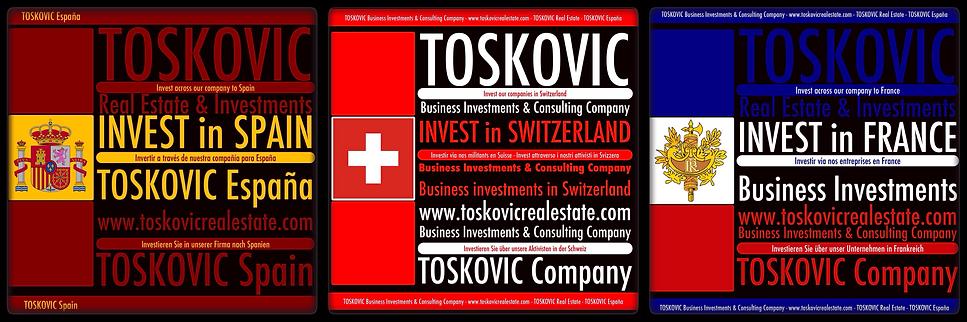 TOSKOVIC Company® - INVEST in Spain, Switzerland & France