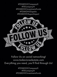TOSKOVIC Company® - Follow Us on social networking!