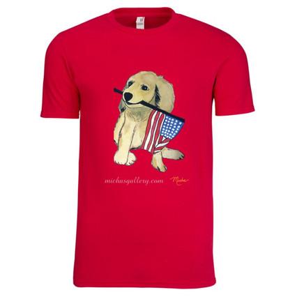 Dog with Flag (tshirt)