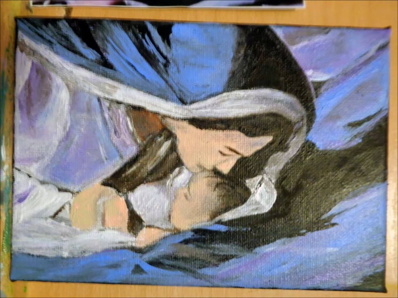 Mary & Jesus of Nazareth Painting in process by micha