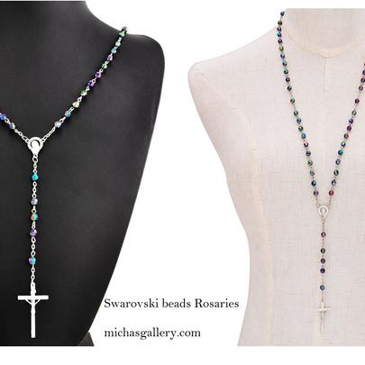 swarovski beads rosaries
