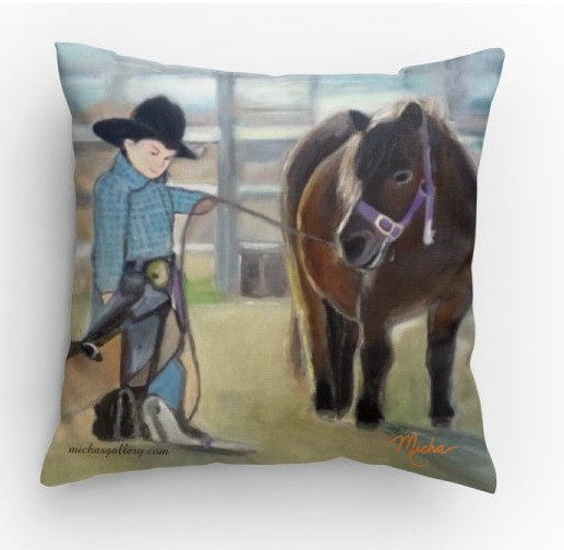 Boy & Pony (pillow)