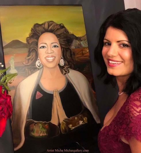 oprah painting by micha