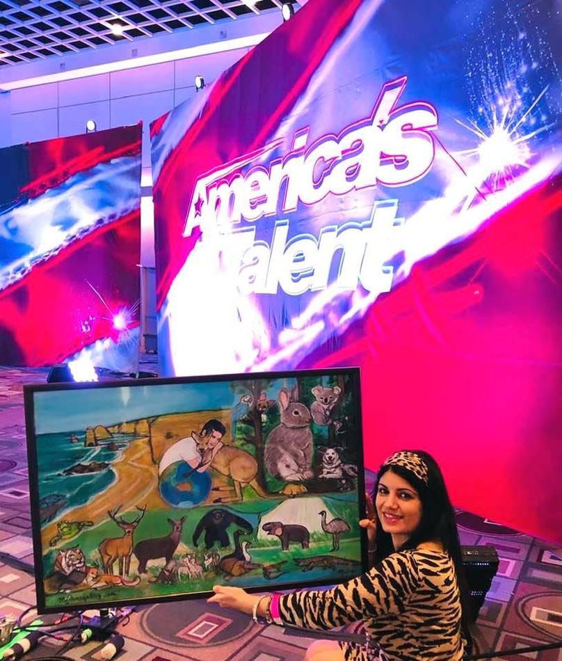 America's Got Talent painting by micha.j