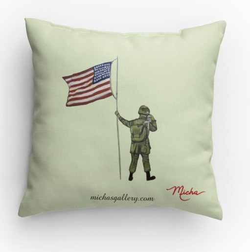 Soldier with flag (pillow)