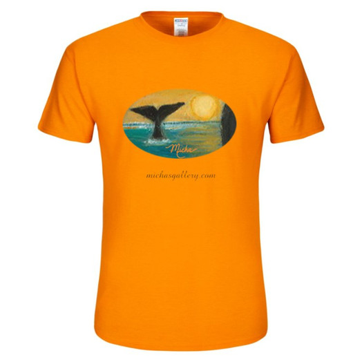 Whale tale (orange tshirt)