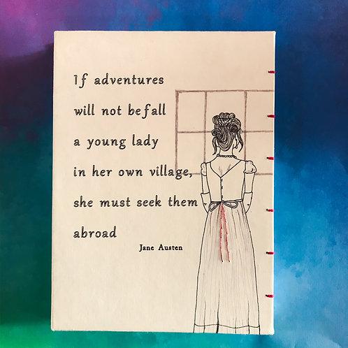 Jane Austen Northanger Abbey quote מחברת עם ציטוט ג׳יין אוסטן