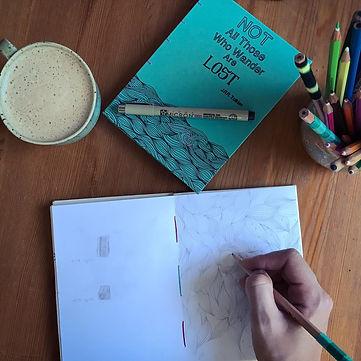 open notebook, blank paper