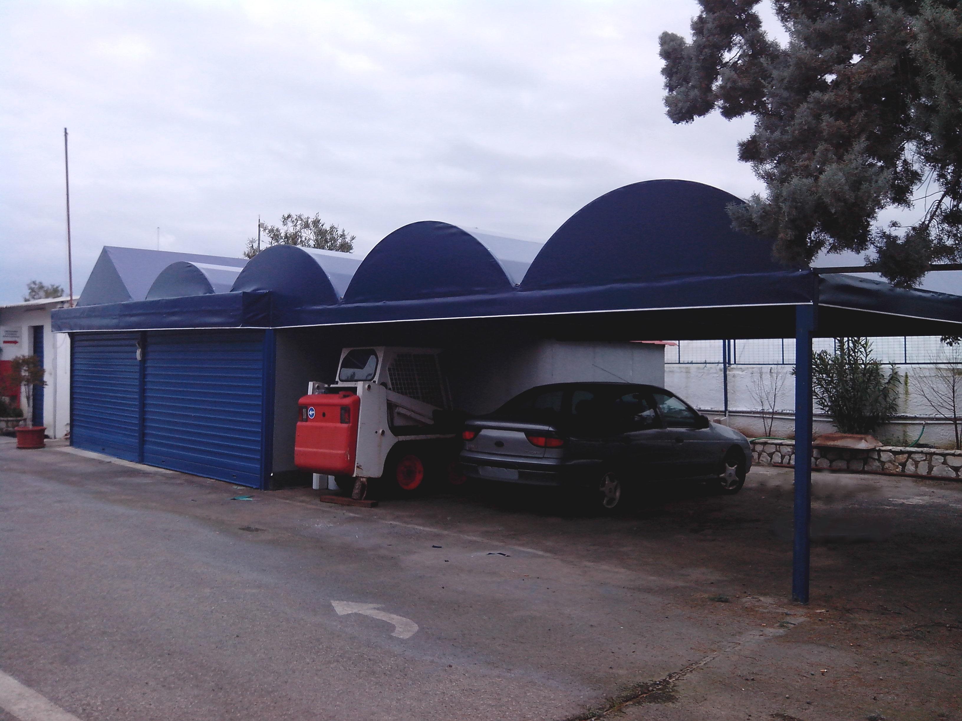 Κατασκευή και στέγαση πάρκιν