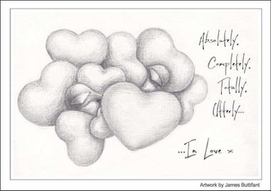 Utterly In Love (Greetings Card)