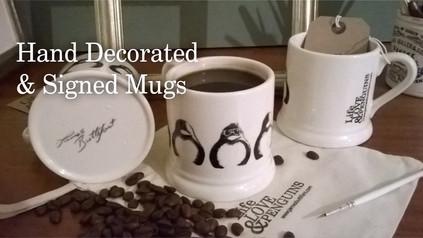 Hand Decorated Mugs