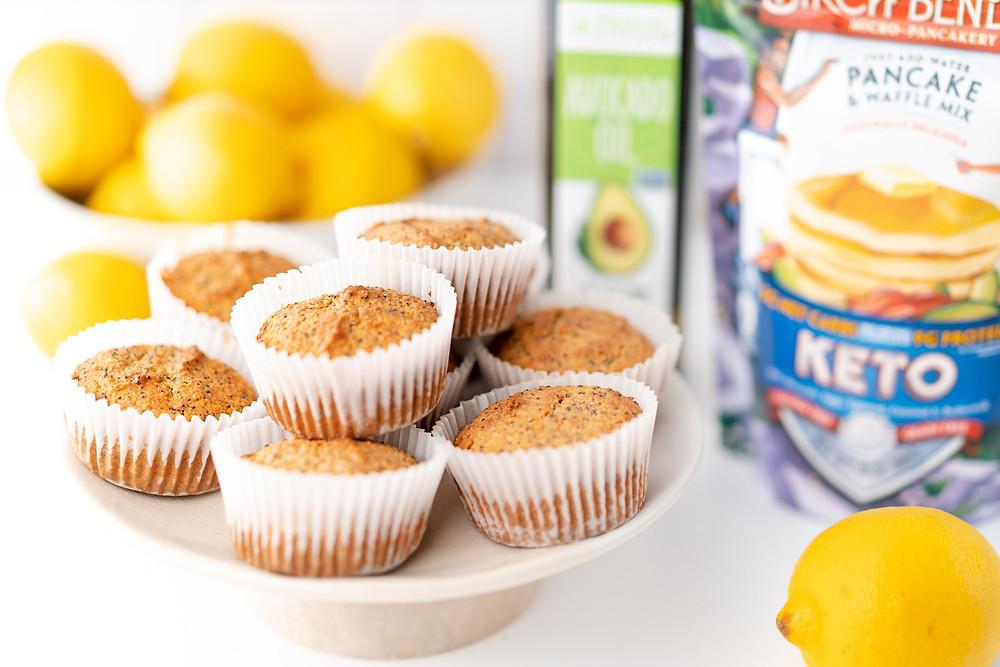 Ketogenic Lemon Poppyseed muffins recipes by Primal Kitchen