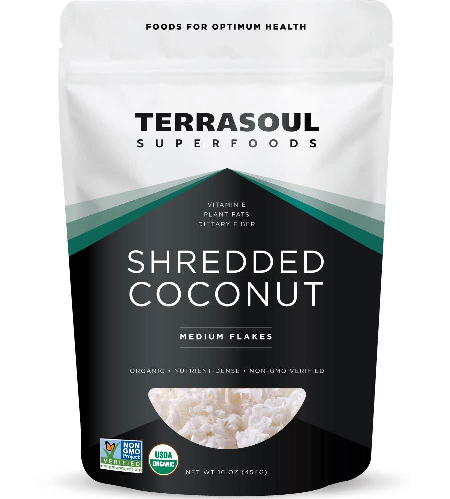 Terrasoul Organic Superfood shredded coconut for keto granola recipe