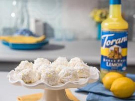 Keto Lemon Coconut Truffles