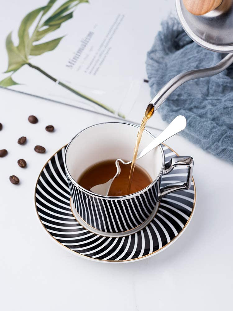 Julaspha Fine Tea cups keto recipes london fog  Latest electroplating technology creates mirror-like surface to reflect the pattern off the saucer.