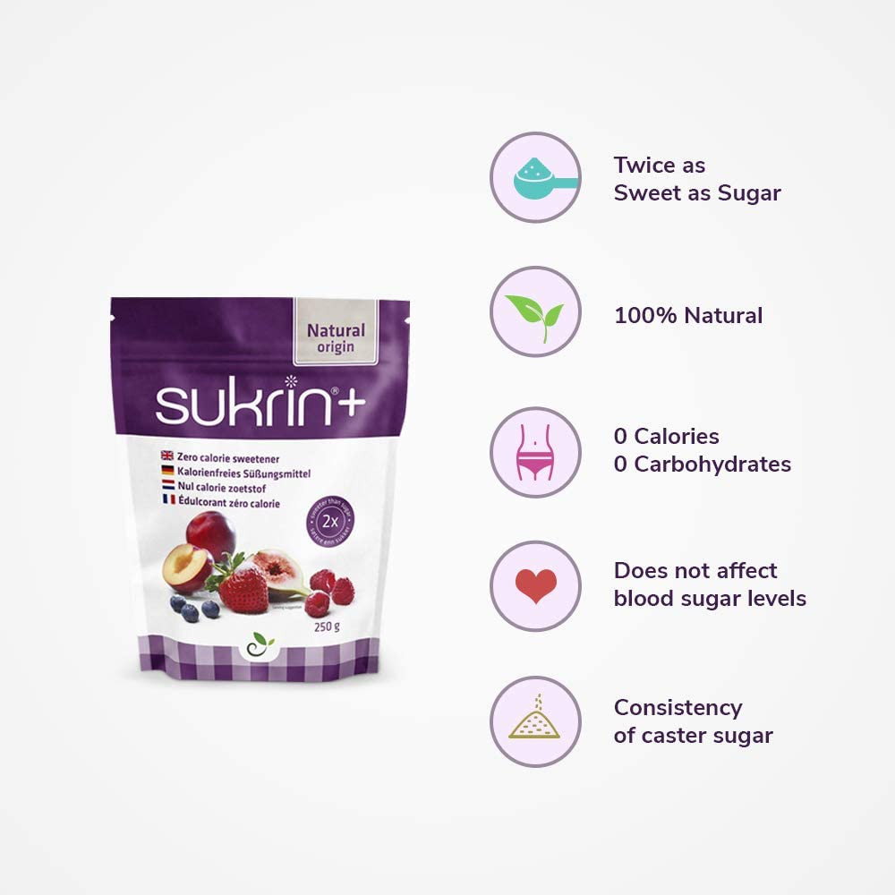 Healthy Sugar Substitute replacement sukrin plus for ketogenic diet recipes keto friendly chocolate truffles