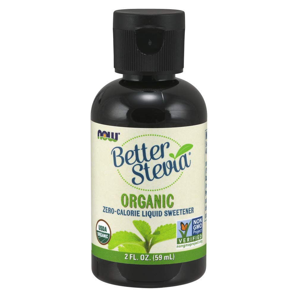 Contains pure stevia extract NOW Foods Certified Organic BetterStevia Liquid, Zero-Calorie Liquid Sweetener Low Glycemic Impact Certified Non-GMO