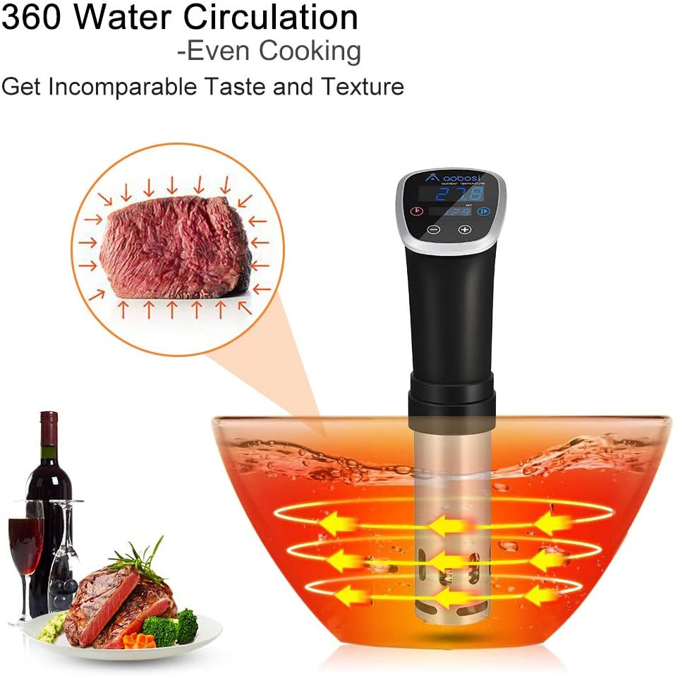 Healthy Life Selections shows diagram . The sous vide cooker cooks the sealed food underwater 100% locking in flavor From Steak Chicken Pork Seafood Egg, Pasta to Dessert Vegetarian everything comes out perfectly