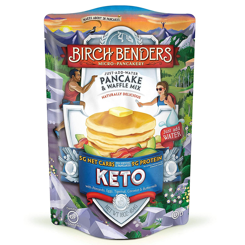 Keto Pancake and Waffle Mix for ketogenic diet