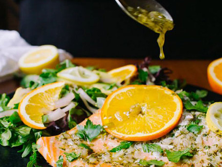 Keto Friendly Citrus Glazed Salmon