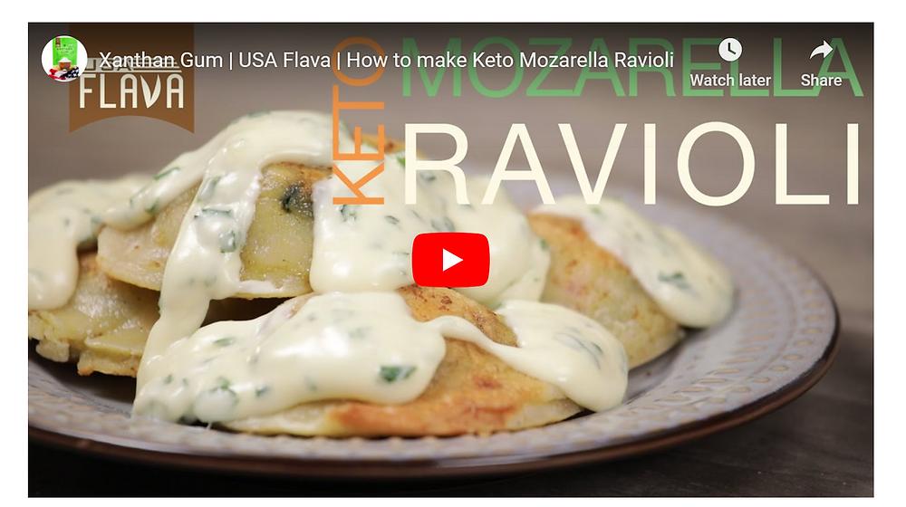 Ketogenic ravioli pasta recipe by USA Flava xanthan gum