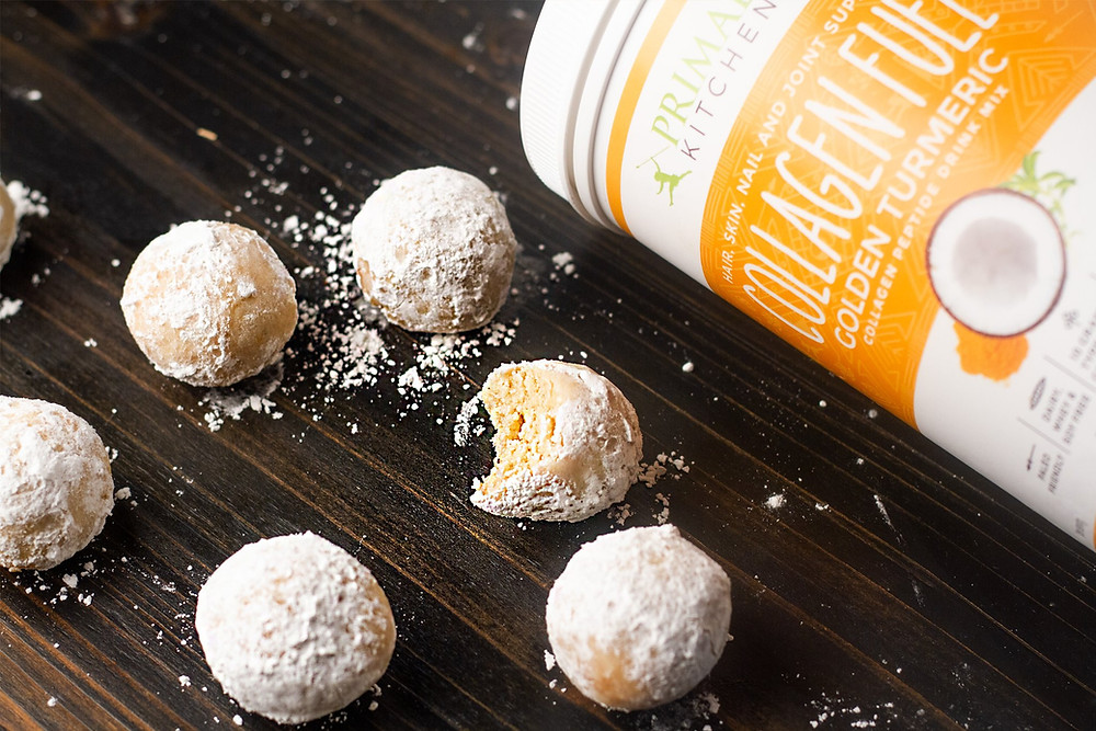 Gluten Free Keto Donut Holes By Primal Kitchen Recipes blog with collagen and golden turmeric