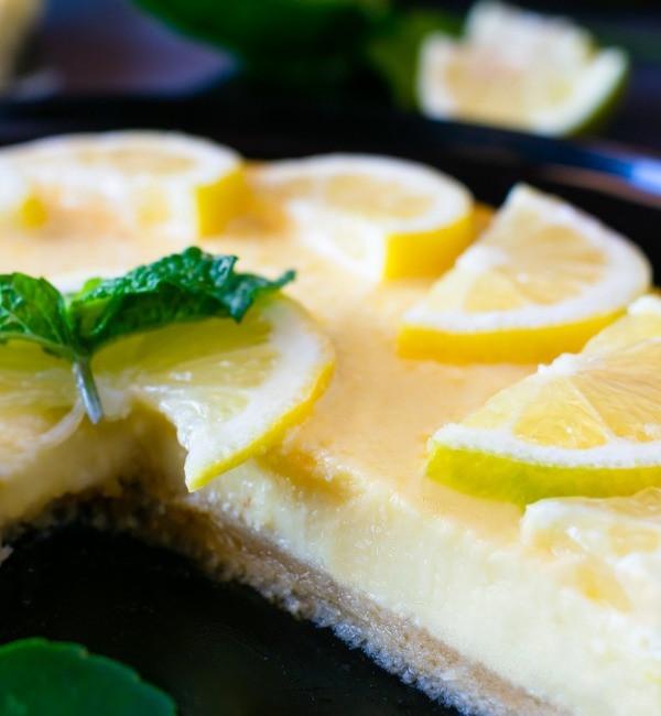 Keto friendly dessert ketogenic lemon cheesecake recipe