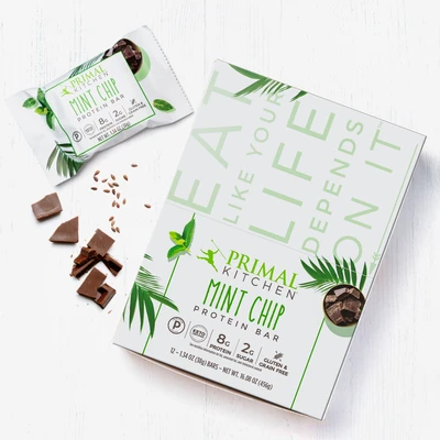 Healthy Life Selections recommends Primal Kitchen Mint Chip Protein Bar