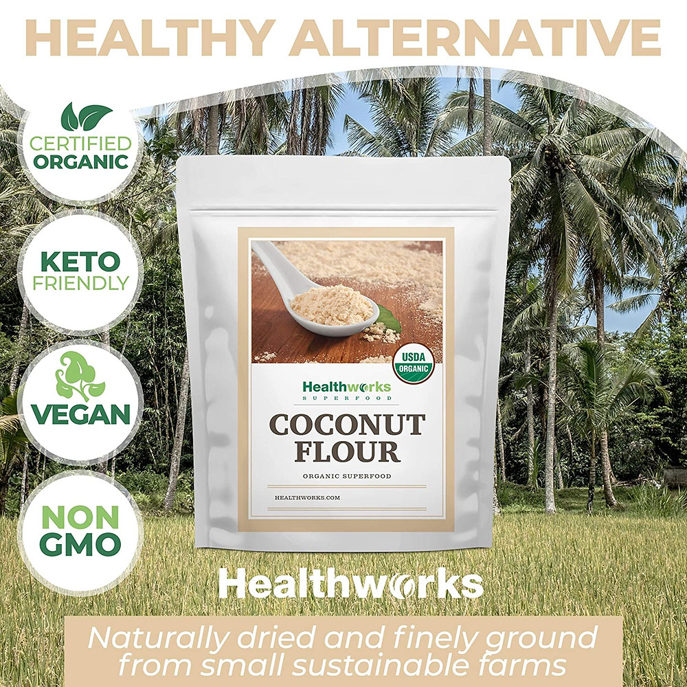 Organic Keto Friendly Vegan Coconut Flour ketogenic baking alternative