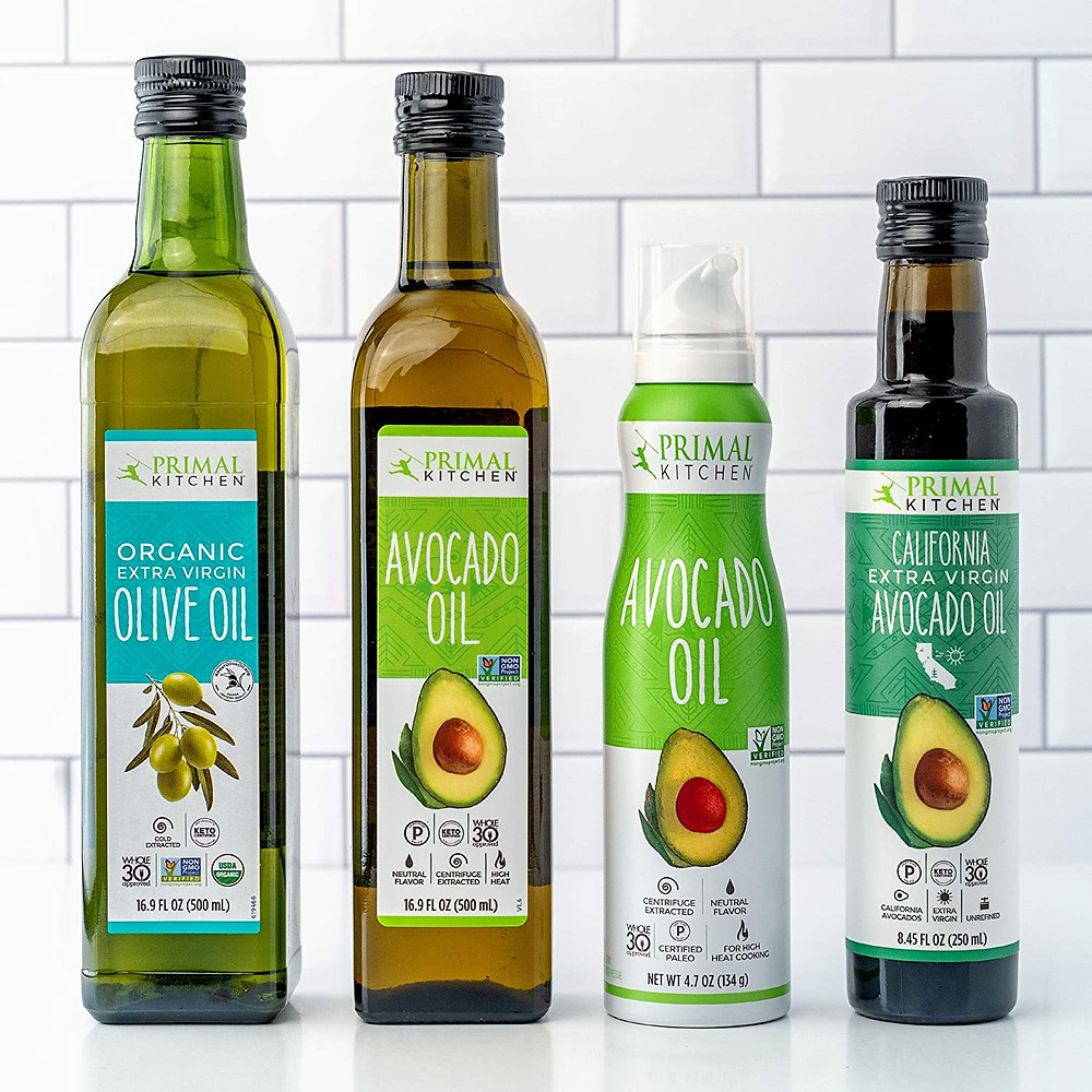 Healthy LIfe Selections recommends Primal Kitchen avocado oil and olive oil for ketogenic gluten free and healthy recipes