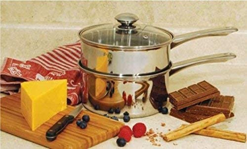 Healthy Life Selections Ketogenic recipes melting chocolate highly polished Stainless steel