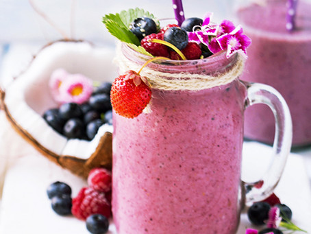 Keto Berry Coconut Protein Shake