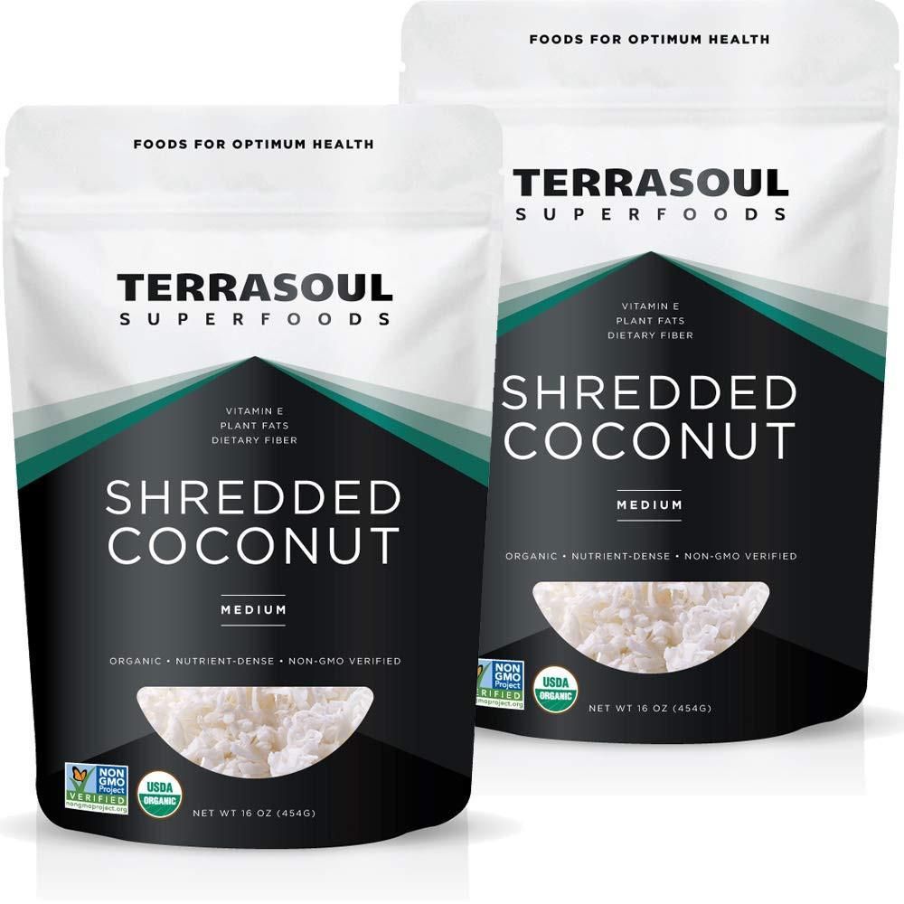 Unsweetened  shredded coconut superfood