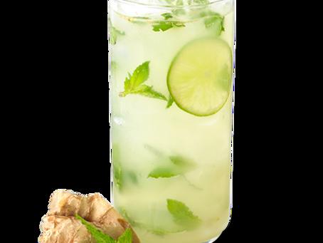 Skinny Ginger Mojito Mocktail
