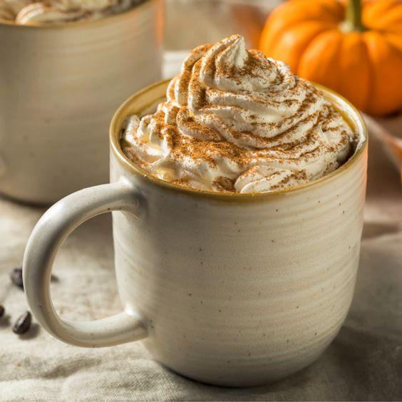 Keto friendly Starbucks Copycat Pumpkin Spice latte for keto diet