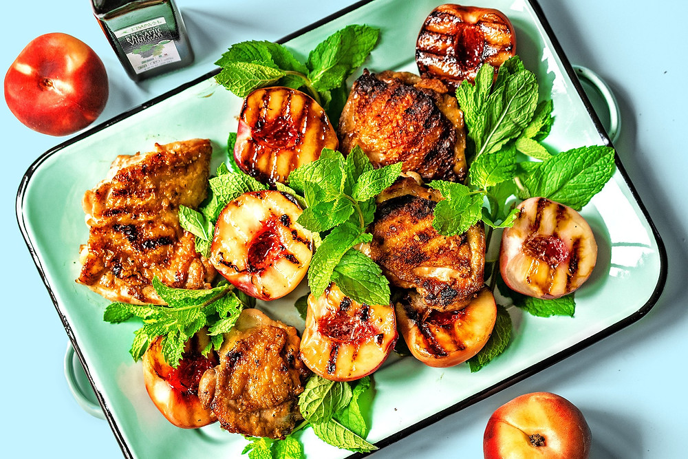 Primal Kitchen Paleo Recipes with Balsamic vinegar avocado oil spray and mint