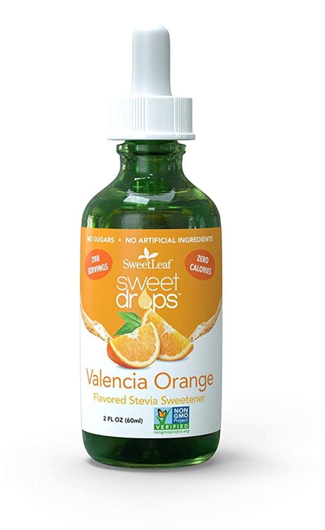 Sweetleaf Stevia Orange Valencia flavor keto friendly sweetener for ketogenic dessert recipes creamsicles