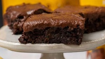 Keto Chocolate Frosted Zucchini Brownies