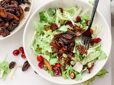 The Ultimate Keto Winter Salad with Candied Pecans