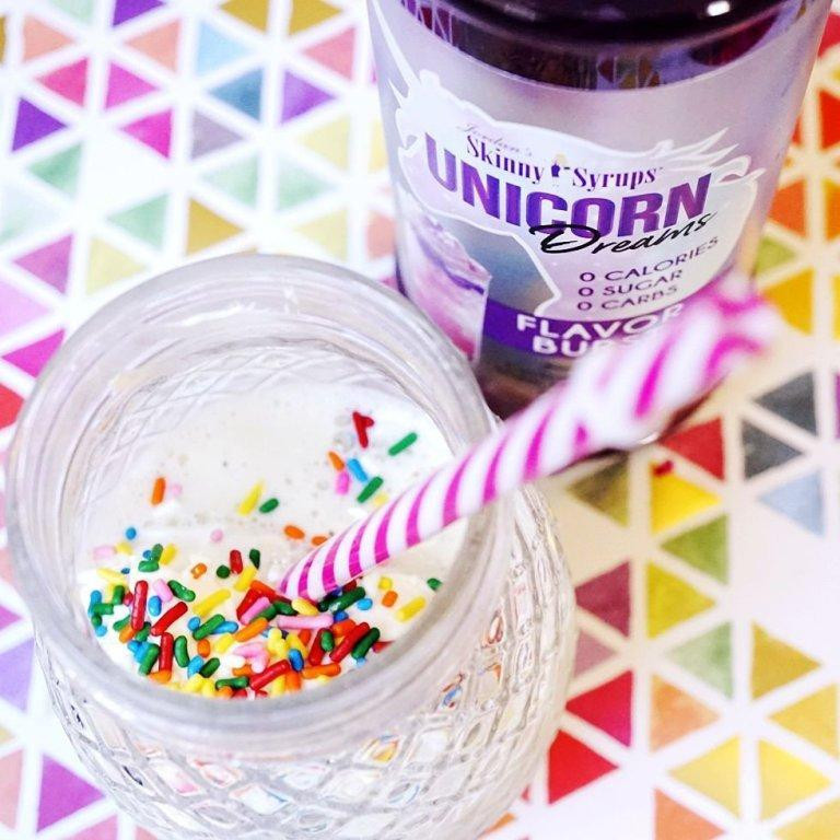 Skinny Keto Unicorn Milkshake made by Ketogenic Starbucks mom