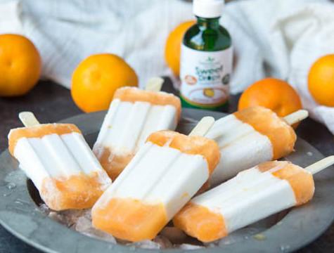 Ketogenic creamsicle Popsicles keto friendly dessert for kids