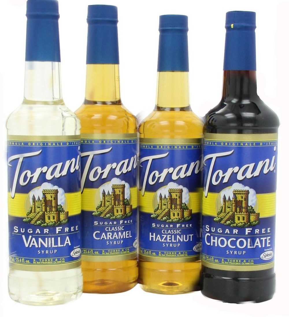 Torani Variety Pack Sugar Free Coffee Flavors for keto friendly coffee beverages