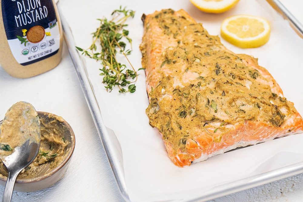 Healthy Life Selections Recipes from Primal Kitchen Dijon Mustard Salmon is keto friendly