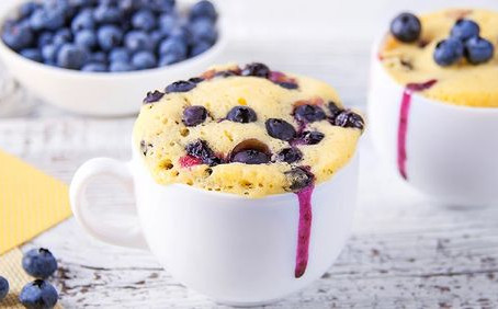 Keto Blueberry Mug Cake